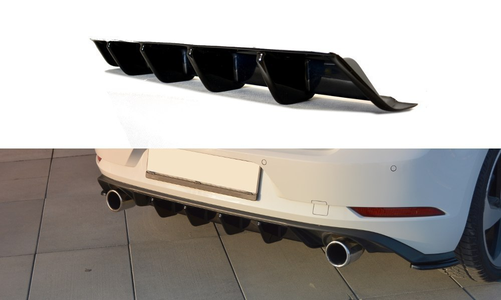 Dokładka Tył VW GOLF VII GTI FACELIFT - GRUBYGARAGE - Sklep Tuningowy